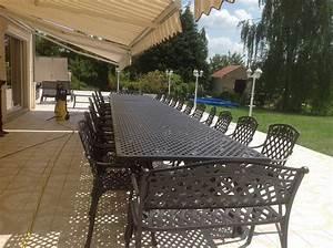 Grande Table De Jardin : table de jardin grande dimension ~ Teatrodelosmanantiales.com Idées de Décoration