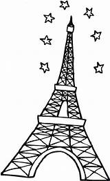 Eiffel Tower Coloring Paris Pages Stars Outline Sky Pdf Drawing Mandala Cartoon Printable Clipart Resume Format Sketch Clipartmag Template Towers sketch template