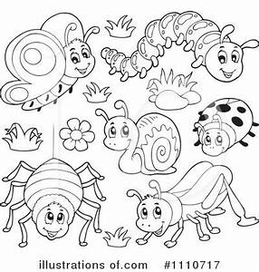 Insects Clipart #1110717 - Illustration by visekart