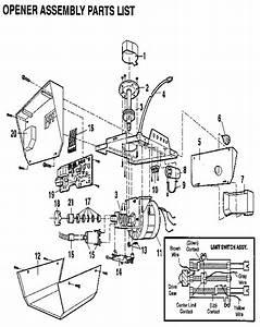 Craftsman 1  2 H P  Garage Door Opener Parts