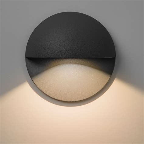 astro tivoli led black outdoor wall light at uk electrical supplies