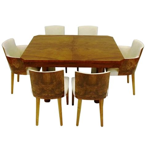deco dining table and six chairs