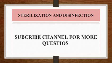 gk quiz mcq  sterilization  disinfection