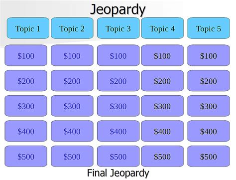 jeopardy template 9 free jeopardy templates for the classroom