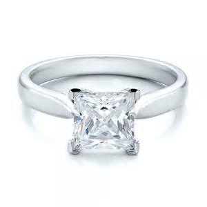 princess cut engagement rings custom design in bellevue and seattle - Princess Cut Solitaire Engagement Rings