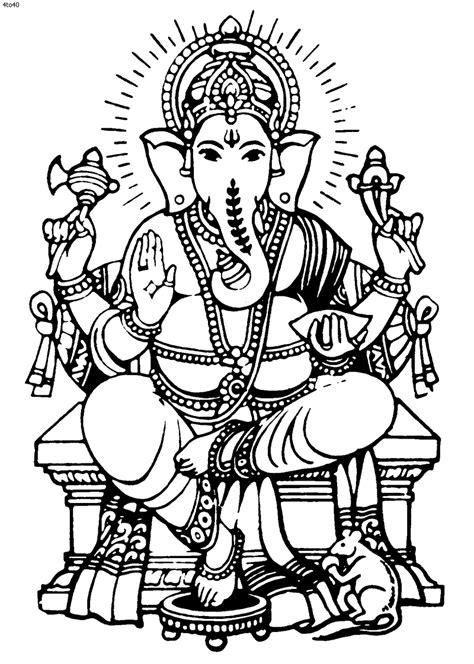 Mythologie Hindou: Ganesh (Dieux et Déesses) – Coloriages