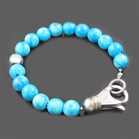 cz bead bracelet larimar stone blackjack jewelry