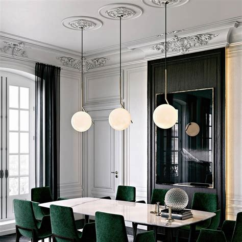 flos ic light s1 suspension dining lighting inspiration room brass architectural chrome lumigroup related