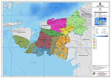 administrasi kabupaten sorong peta tematik indonesia