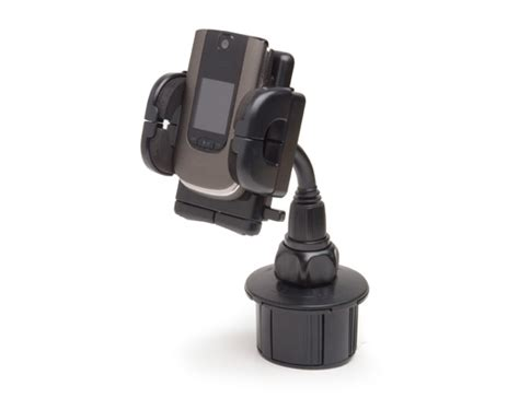 cup holder phone mount bracketron dock it universal cup holder cell phone mount