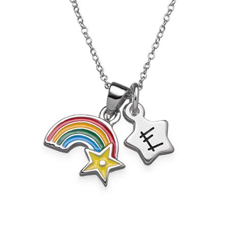 initialen kinder regenbogenkette mit initialen anh 228 nger f 252 r kinder meine