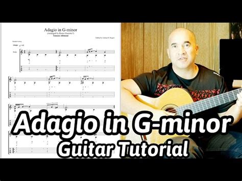 Guitar Lesson Adagio In G Minor Tomaso Albinoni Remo