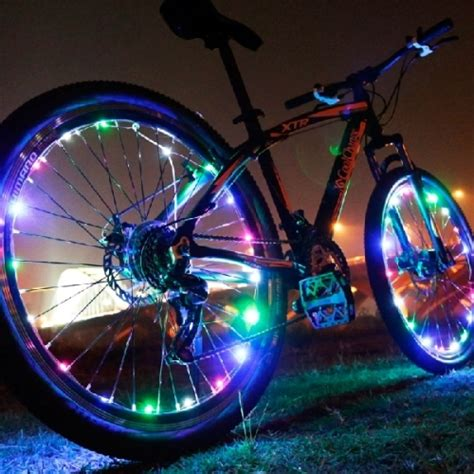 bicycle wheel spoke decorative led light article bar