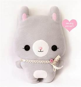 PDF plush sewing pattern Bunny Rabbit kawaii by TeacupLion