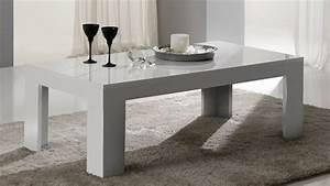 Table De Salon Alinea : table basse rectangulaire design laqu e blanche alba ~ Dailycaller-alerts.com Idées de Décoration
