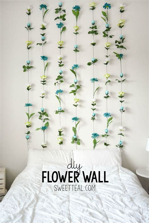 diy flower wall diy bedroom decor  teens diy