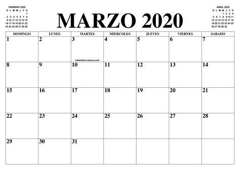 foto de CALENDARIO MARZO 2020 : EL CALENDARIO MARZO 2020 PARA