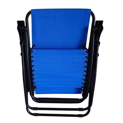 chaise de jardin pliante pas cher chaise pliante en toile cing bleu achat vente