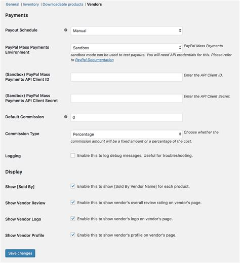 paypal sign up form getting started with product vendors woocommerce docs