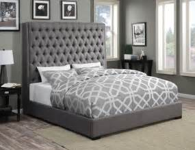 King Bed Frame Gray by Camille Grey Platform Bed From Coaster Coleman