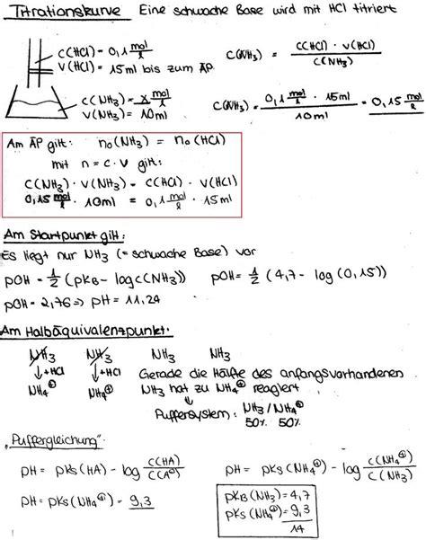titration einer schwachen base mit einer starken saeure