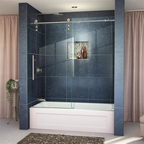 tub shower doors shop dreamline enigma z 59 in w x 62 in h frameless