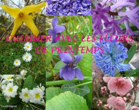 cuisiner les fleurs jeu cuisiner avec les fleurs de printemps un an pour