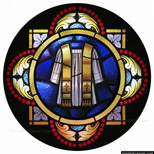 """""""Holy Orders Symbol"""" Religious Stained Glass Window"""
