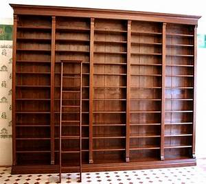 Bücherwand Mit Leiter : b cherwand massiv erle im gr nderzeitstil 300x350x35cm ebay ~ Markanthonyermac.com Haus und Dekorationen