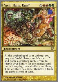 ach hans run its the worldspine wurm casual mtg deck