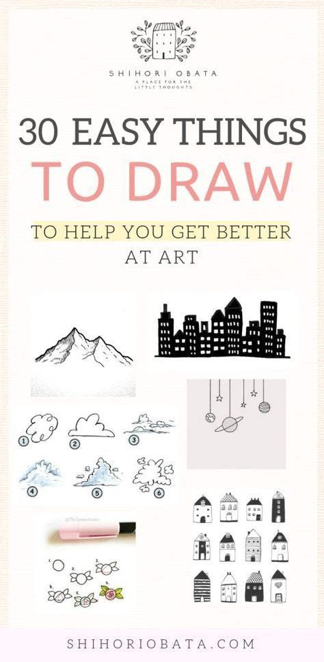 trendy drawing challenge  beginners inspiration ideas