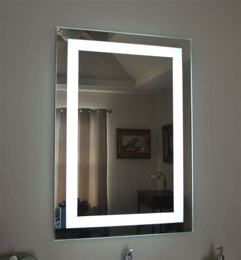 Bathroom Wall Mounted Mirrors by Lighted Bathroom Vanity Make Up Mirror Led Lighted Wall