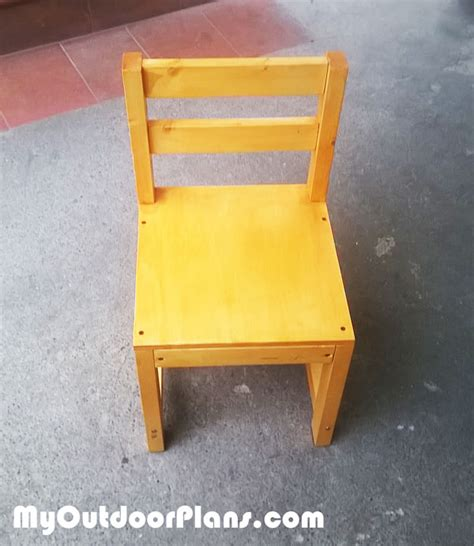 diy wood kids chair myoutdoorplans  woodworking