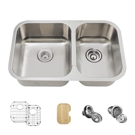 kitchen sinks stainless steel undermount bowl mr direct all in one undermount stainless steel 28 in 9835