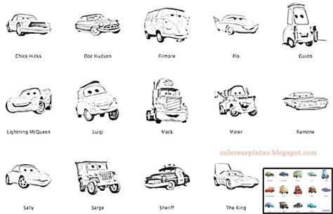 Personajes De Cars Para Colorear