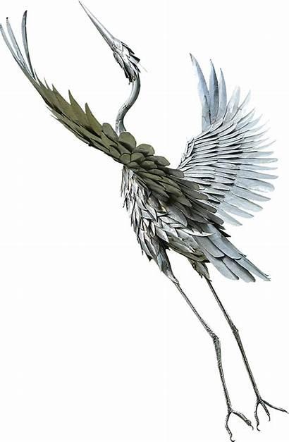 Metal Bird Sculptures James Sculpture Custom Seaman