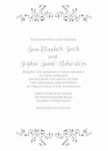 stylized foliage and leaves invitation wedding With wedding invitation header design