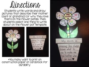 mothers day activity flower writing craft  brittney