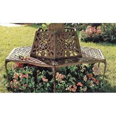 marquee rustic iron tree surround bench
