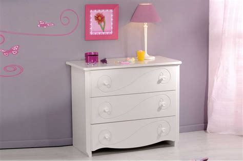 meuble commode chambre meuble commode fille laqué blanc trendymobilier com