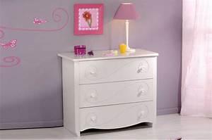 Commode Blanc Laqué : meuble commode fille laqu blanc ~ Teatrodelosmanantiales.com Idées de Décoration