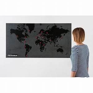 Decoration Murale Carte Du Monde : carte murale monde noir bambins d co ~ Teatrodelosmanantiales.com Idées de Décoration