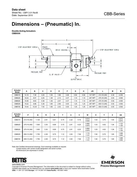 Bettis CBB Pneumatic Scotch Yoke Valve Actuator-Emerson