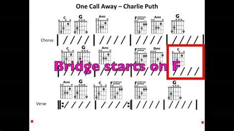 not angka locked away chord n lirik one call away not angka puth one