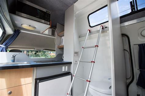 motorhome campervan rv rental  person  bathroom