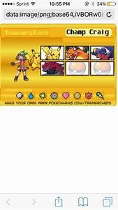 My Trainer Go To Pokecharmscom U203a Trainer Card Maker To