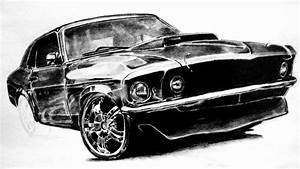 Ford Mustang -drawing, graphite pencil - Juho234 - YouTube