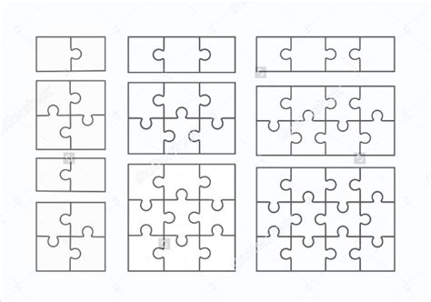 Jigsaw Puzzle Template For Word by Puzzle Template Blank Puzzle Template Free Premium
