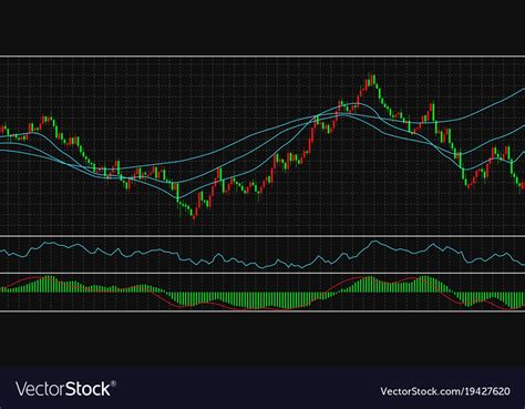 Stock Candele by Forex Stock Chart Data Candle Graph Royalty Free Vector