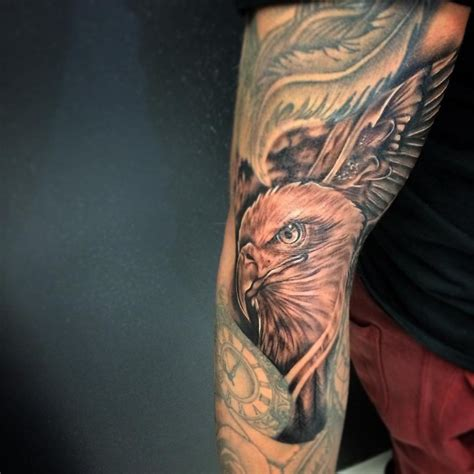 eagle tattoo designs meanings spread